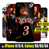 New Custom Print Case Cell Phone Accessories NBA Basketball Iverson Phone Cases for iphone 4 4S 5 5S 6