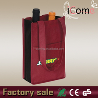 Wholesale reusable divided wine tote bag(ITEM NO:W150443)