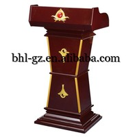 Guangzhou Online Wholesale hotel furniture suppliers wooden rostrum meeting room equipment wooden podium lecturn T49