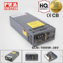 36v 30a 1000w camera ac adapter transformator mental case cover strip led switching model power supply