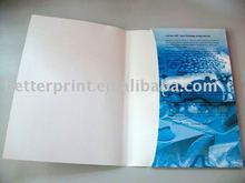 Poster and Folio folded Flyer leaflet printing service with pocket