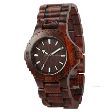 2015 New Japanese Movement waterproof Natural Sandal Wood Watch