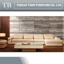 Recliner beige italian leather sofa set