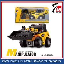 Novo brinquedo caminhão para crianças 6ch plastic toy rc bulldozer