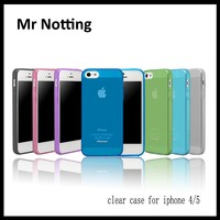 2015 new arrival silicon transparent clear cell phone case cover for iphone 4 / 5