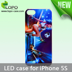 led FLASHING cases factory direct price for iphone 5S