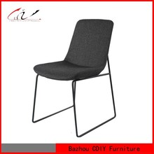 Modern Black Fabric Dining Restaurant Chair