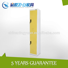 High glossy colorful corner 2door metal locker home furniture