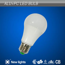 A60 ALU&PC Housing Led Bulb weixingtech E27 7w Led Bulb with Glass Cover