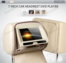 7inch ford headrest dvd player with leather cover, tv, CE, FCC, ROHS certification