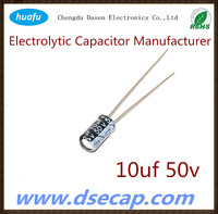 capacitor hot sale Aluminium electrolytic capacitor 50v 10uf with general purpose as your request