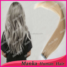 alibaba tape hair extension indian remy human hair double drown cuticles in the same direction