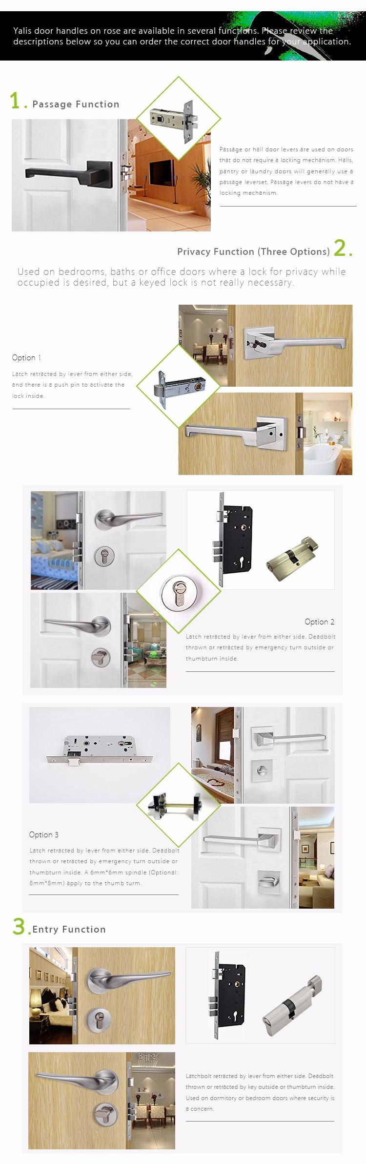 Office Door Handle Lock Interior Door Security Lock Japanese Door