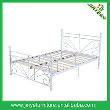 Queen Size Bed Metal/steel, Wood/timber Slats