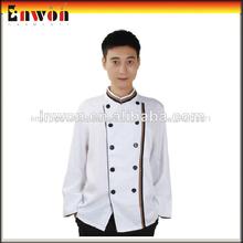 diseñador de moda de algodón poli restaurante chef capa uniforme