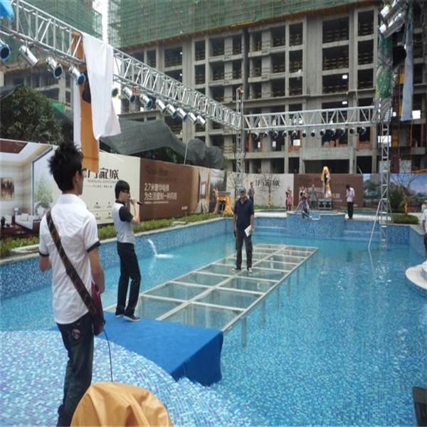Swimming Pool Stage : Glass wedding stage swimming pool on