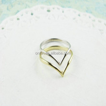 Fashion Jewelry 925 Sterling Silver V Shaped Ring