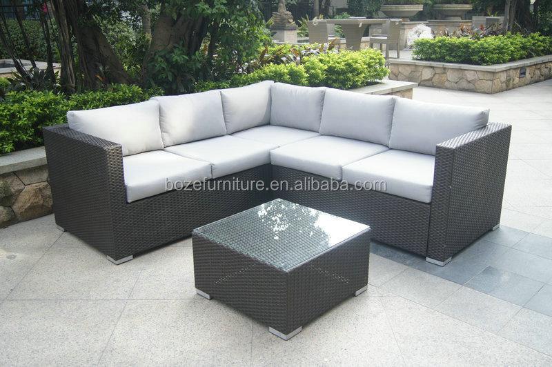 Rattan ecksofa lounge  Outdoor rattan/weidensofa liege gesetzt/rattan ecksofa Lounge-Set ...