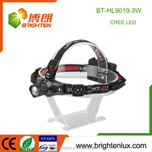 Cheap Wholesale convenient headlamp zoomable Aluminum 2*18650 cree XML Bright 3 mode mult-function head light to wear