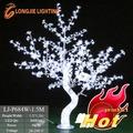 led flor de cereja luz da árvore com luzes brancas