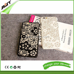 Personality design skeleton frosted camellia hard PC phone case for iphone 6 / iphone 6 plus