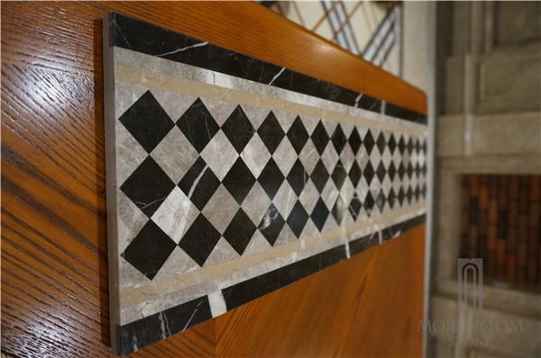 Marble Mosaic Borders Water Jet Laminated Marble Floor Border Tile