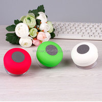 Blue Mini Mushroom Bluetooth Speaker Wireless Waterproof Silicone Suction New