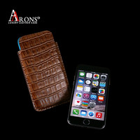 Leather pouch style mobile phone case for apple iphone6