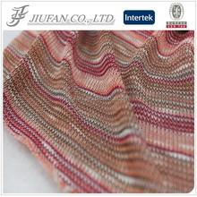 Jiufan Textile Cut & Sew Polyester Rayon Yarn Dyed Knit Fabric For Garment Sweater