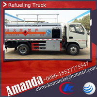 Dongfeng 4*2 95hp Europe standard small mini oil bowser diesel bowser fuel bowser truck sale