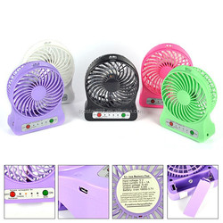 High quality plastic led light usb mini fan small table fan desk fan