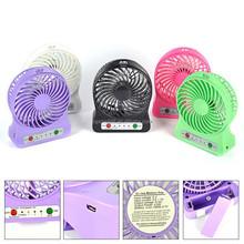 High quality plastic led light usb mini fan small table fan desk fan