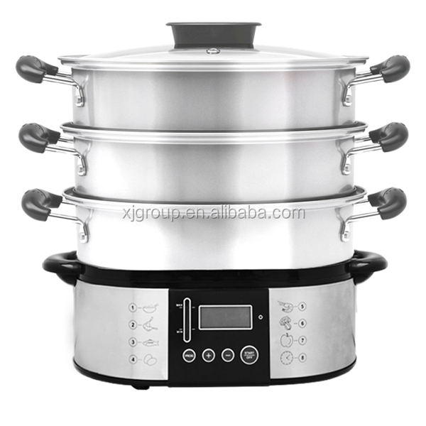 Large Electric Food Steamer ~ Stainless steel food steamer