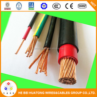 Underground electrical wire yellow green grounding cable