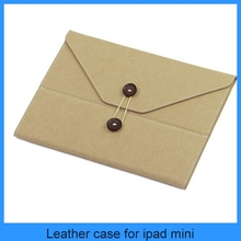 High quality Korean Cute Portfolio style W/ fastener Envelope Smart leather case for ipad mini/4/3/2 sleep/awake (PT-IPM207)