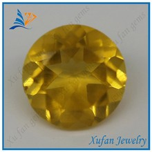 hot sale round shape yellow gemstone crystal