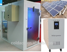 The solar system with LED cold storage