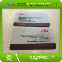 2015 Cheap printable transparent rfid business card for sharing