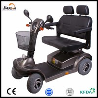 Two Seat Mobility Scooter Electric Mobility Scooter with Four Wheel for Disabled Man