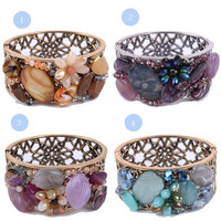 Mexican manufacture importing fashion accessories for women fancy purple bangle bracelet
