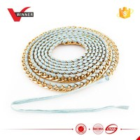 Metal Chain inlay pu strap Lady Chain Belt