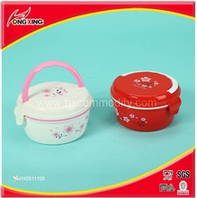 Double layer plastic custom lunch boxes for promotion