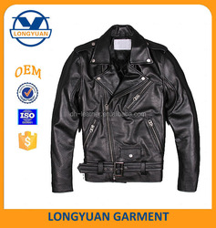 best custom classic man motorcycle leaher jacket made in china