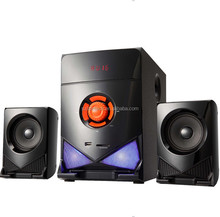 Newest design heavy bass 2.1 speaker with usb/sd/fm/remote control