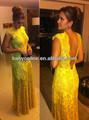 amarillo sexy vestido de noche largo vestidos de noche de encaje a largo para la mama de la novia 2013