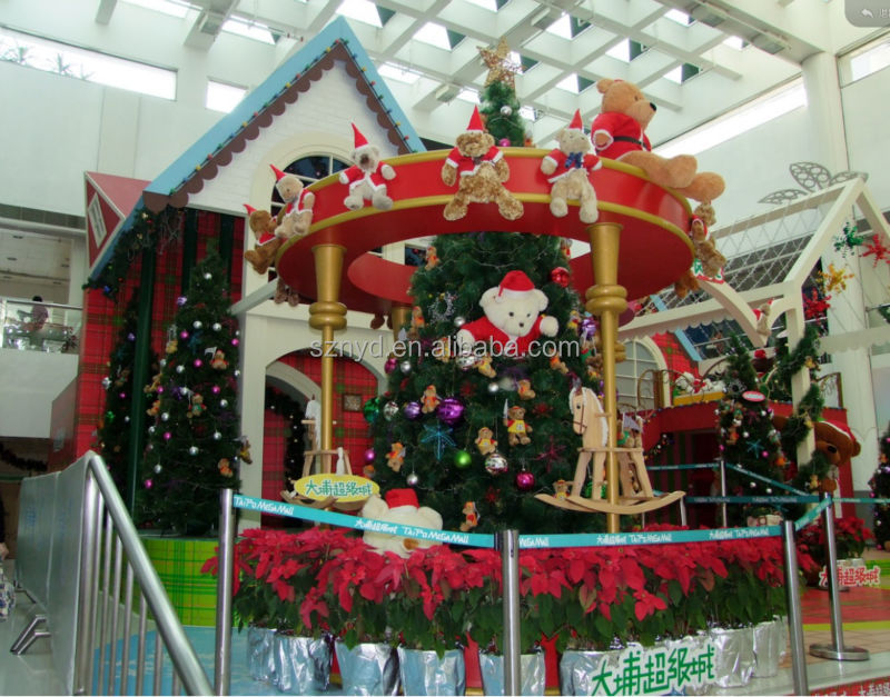 2014 giant christmas decoration of shopping mall project for Retail christmas decorations ideas