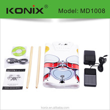 Portable stainless steel usb midi drum for hot selling Limitless Professional sound