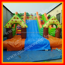 Outdoor kids playground bounce house inflatable castle with slide