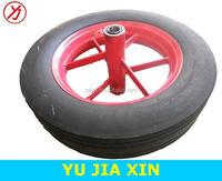 16 inch heavy duty solid rubber wheel