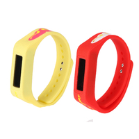 custom design fashion calorie pedometer watch with wristband